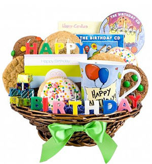 Birthday Wishes Gift Basket