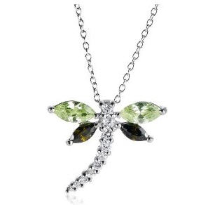 Send Cubic Zirconia Dragonfly Pendant to USA