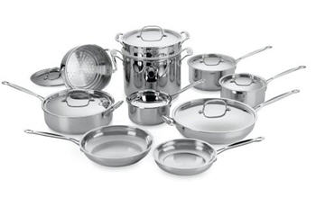 Send Cuisinart Classic Stainless 17-Piece Cookware Set to USA